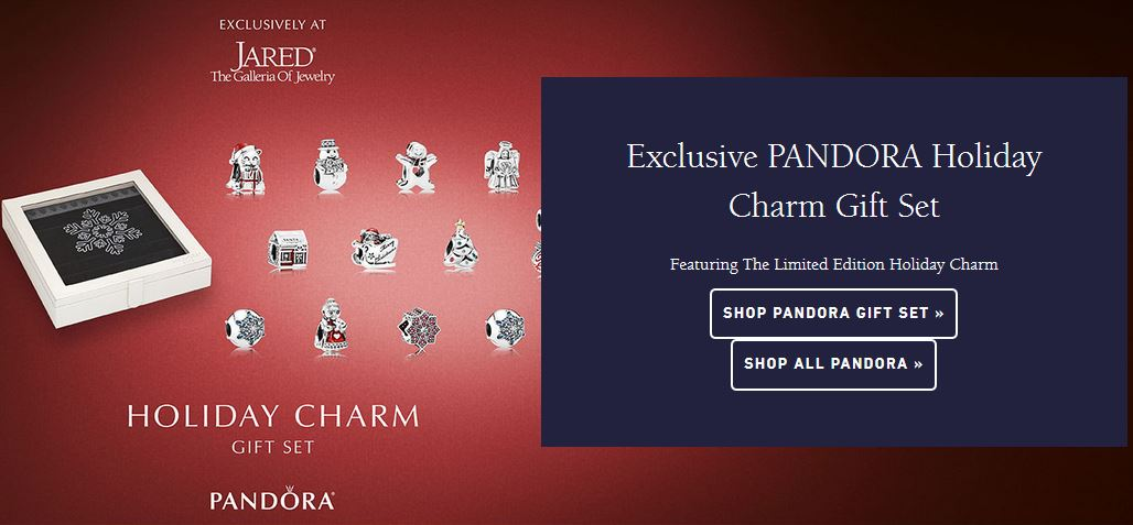 USA Exclusive at Jared Holiday Charm Set plus Jewelry Box Pandora
